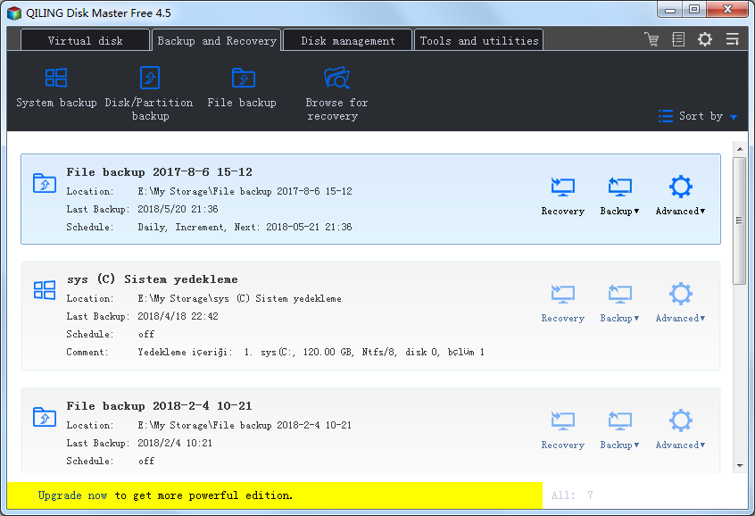 Click to view QILING Disk Master Free 4.5.1 screenshot
