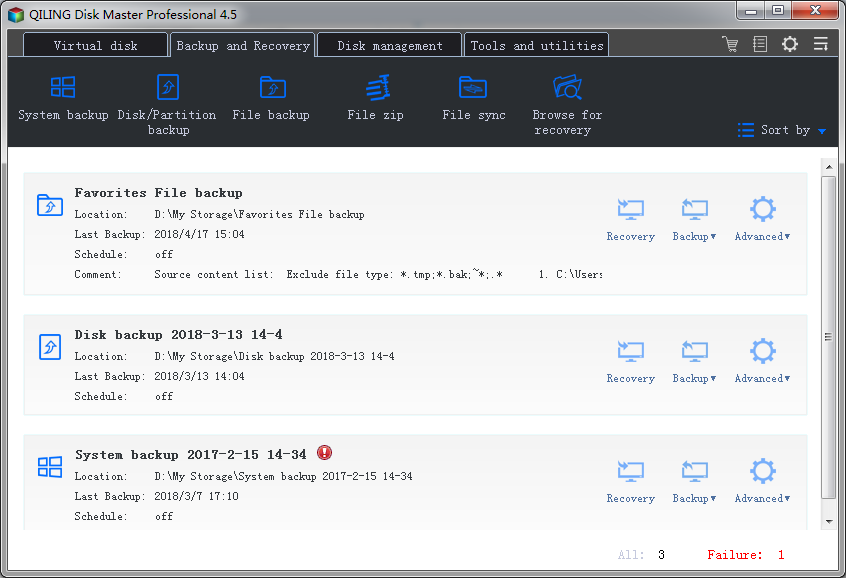 Click to view QILING Disk Master Professional screenshots
